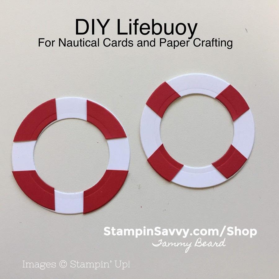 Stampin Up Birthday card Nautical