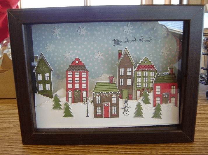 Holiday Home 3 D Framed Art Stampin Studio