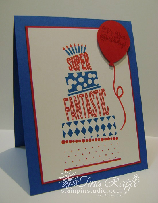 Stampin' Up! Cake Crazy tamp set, Balloon Bouquet Punch, Stampin' Studio