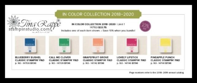 Stampin' Up! 2018-2010 In Color Ink Pads, Stampin' Studio