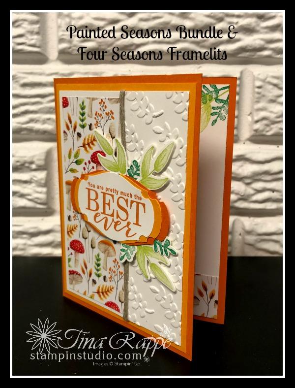 Stampin' Up! Painted Seasons stamp set, Painted Seasons DSP, Four Seasons Framelits, Stampin' Studio