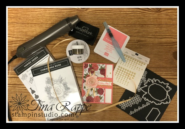 Stampin' Up! Christmastime is Here Suite, Christmas Rose Bundle, Fun Fold, Card, Stampin' Studio