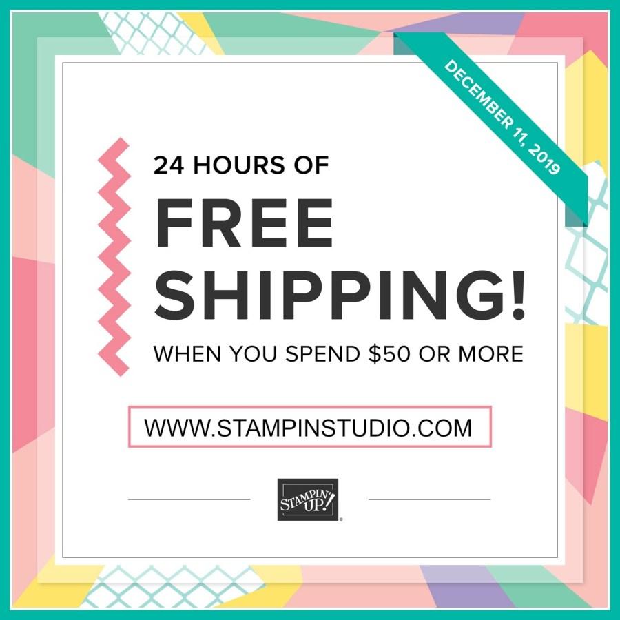Stampin' Up! Free Shipping, Stampin' Studio