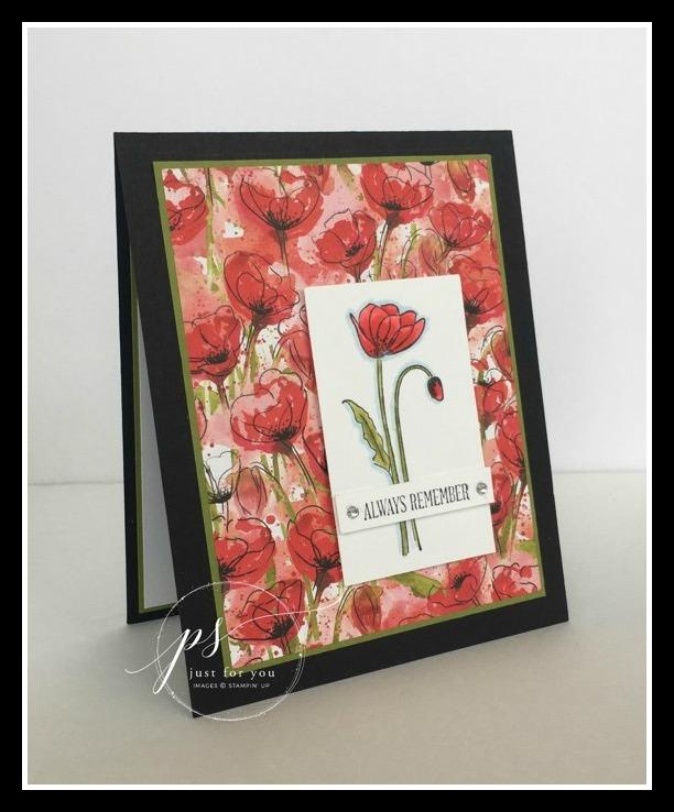 Stampin' Up! Painted Poppies stamp set, Stampin'; Studio