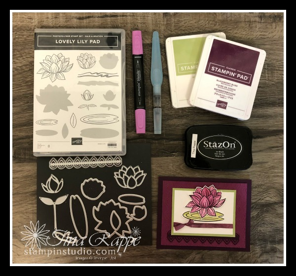 Stampin' Up! Lovely Lily Pad stamp set, Lilly Pad Dies, Stampin' Studio