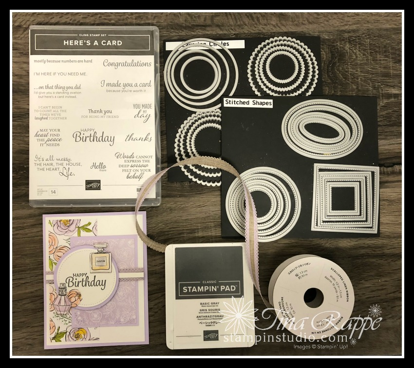 Stampin' Up! Best Dressed DSP, Here's a Card stamp set, Stampin' Studio