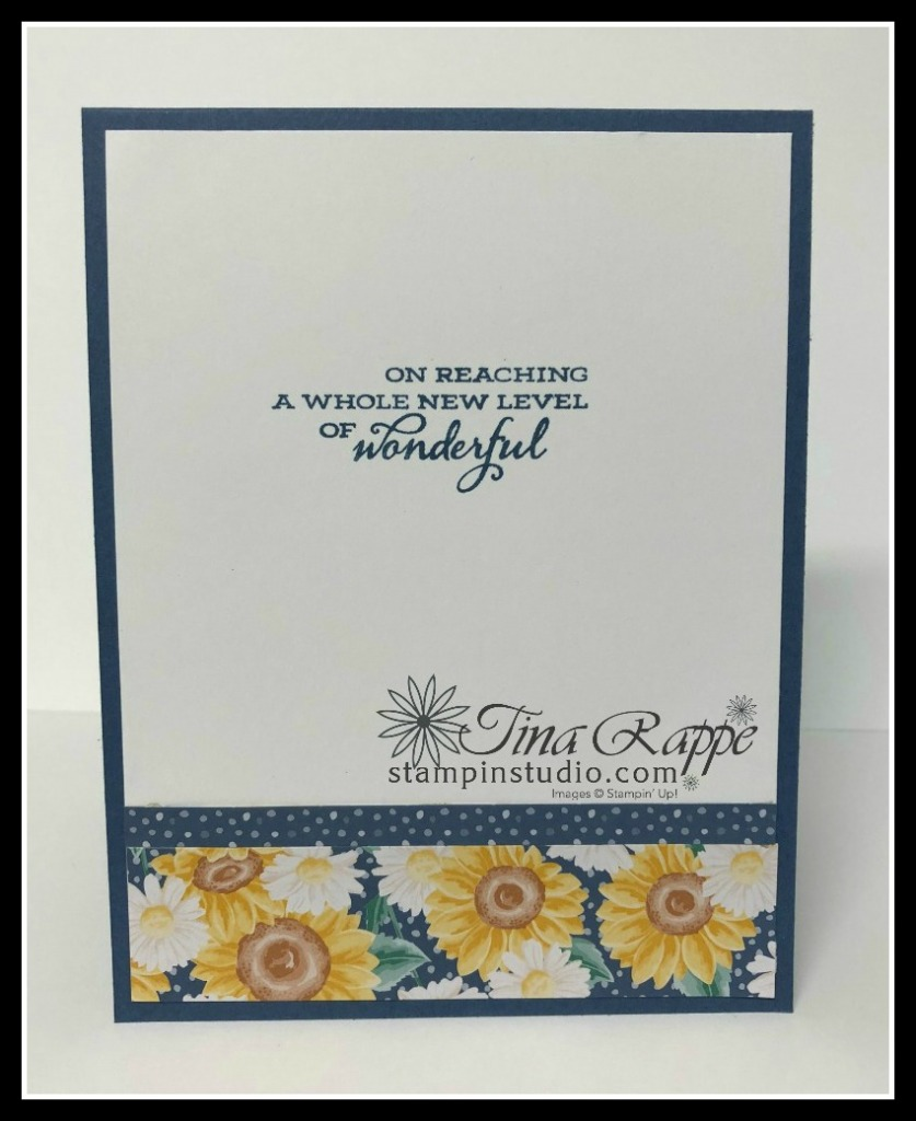 Stampin' Up! Celebrate Sunflowers stamp set, Flowers for Every Season DSP, Technique: How to get color on dark cardstock, Stampin' Studio