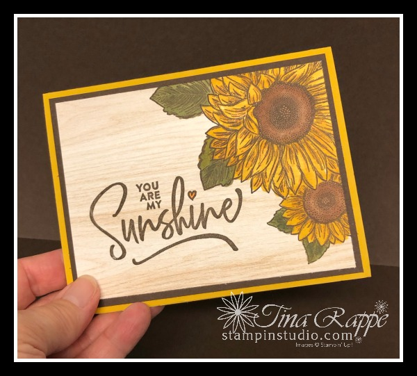 Stampin' Up! Celebrate Sunflowers stamp set, Ridiculously Awesome stamp set, Stampin' Studio.com