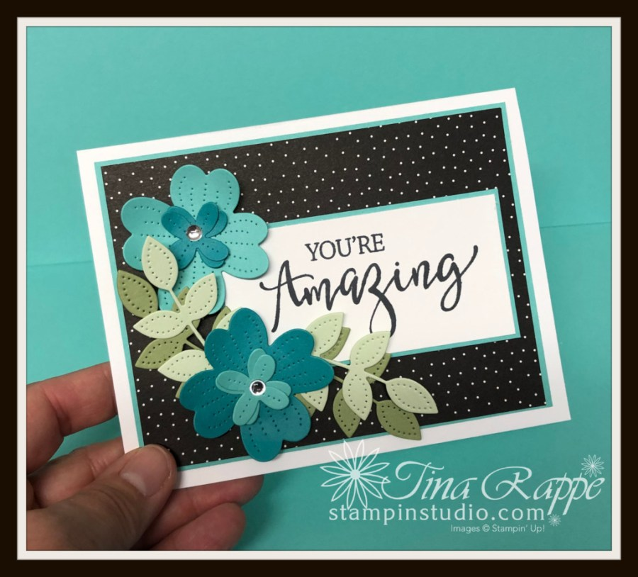 Stampin' Up! Create With Friends stamp set, Pierced Blooms Dies, Stampin' Studio