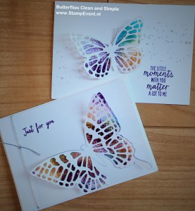 Butterflies Clean and Simple stampevent