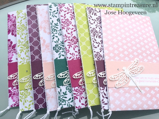 notitieboekje notebook stampin up in color