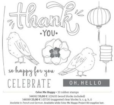 Color me Happy stamp set stampin blends