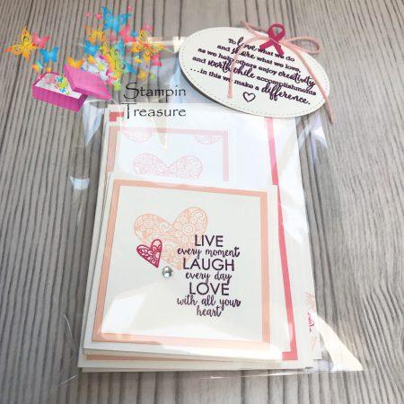 Pink Ribbon kaarten pakket