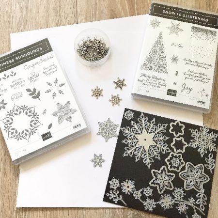 sneeuwvlokken exclusieve stampin up producten