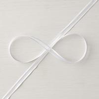 Whisper White 1/4 (6.4 mm) Organza Ribbon