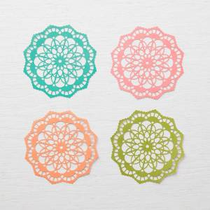 Stampin' Up colored doilies