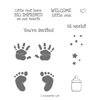 First Steps Cling Stamp Set