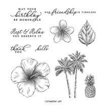 TIMELESS TROPICAL CLING STAMP SET (ENGLISH)