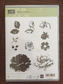 Stippled Blossoms Clear Mount Retired Stamp Set From