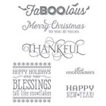 Six Sayings Clear-Mount Stamp Set139852 Price: $11.00