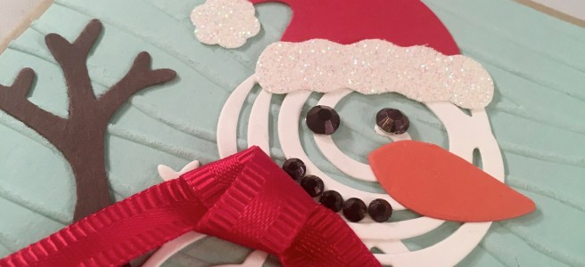 Swirly snowman image Close up
