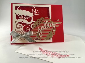 Photo of Jolly Santa card and envelope