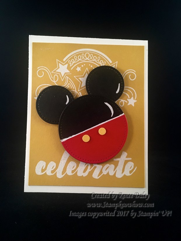 Punch Art Mickey Symbol on Birthday Blast Background