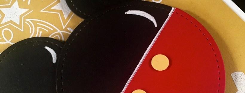 Punch Art Mickey Symbol on Birthday Blast Background