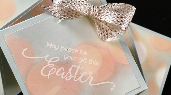 Close Up Image of Diamond Fold Easter Card