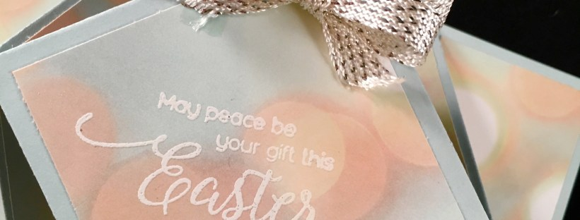 Close Up Image of Diamond Fold Easter Card