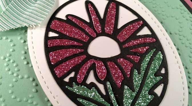 Timeless Tags Stained Glass Paper Flower