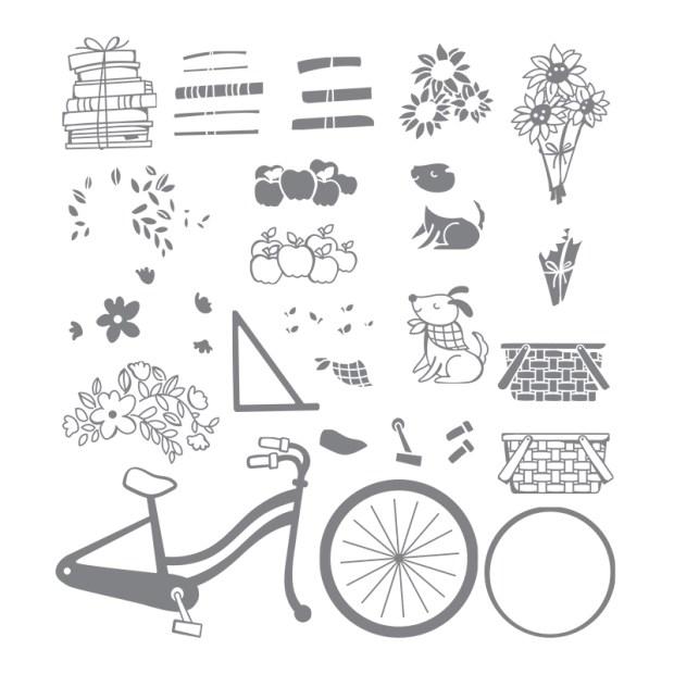 Closeup of Stampin' UP! Bike Ride Stamp Set