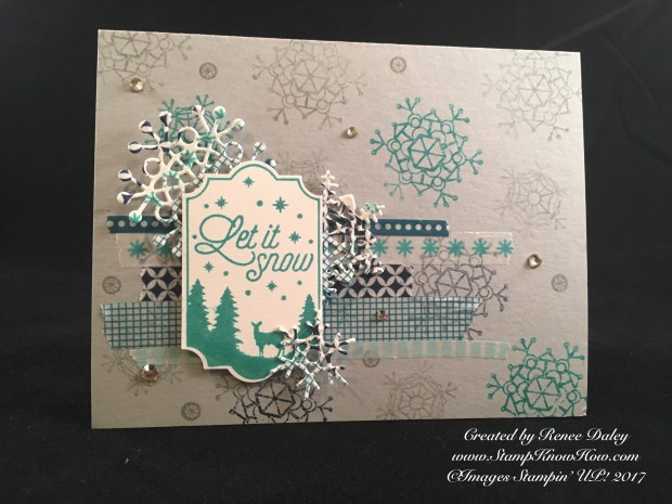 Merry Little Labels Washi Card