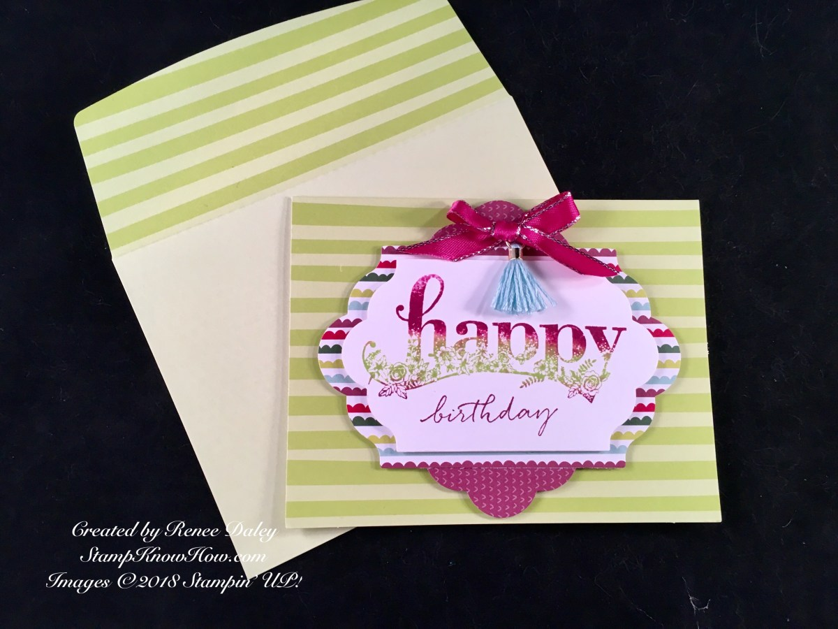 Happy Wishes Stamp Set Card