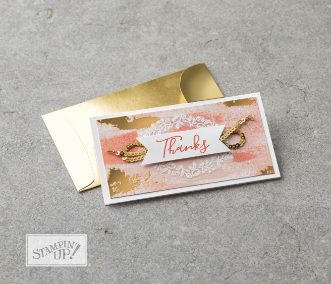 Narrow Note Cards by Stampin' UP