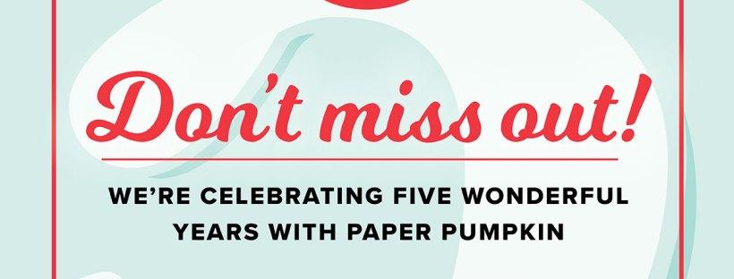 Paper Pumpkin 5 year anniversary