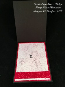 Inside of card featuring Party Pandas Sale-a-bration stamp set