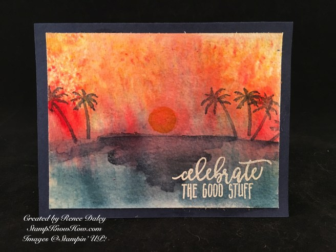 Brusho & Waterfront Stamp Set by Stampin' UP
