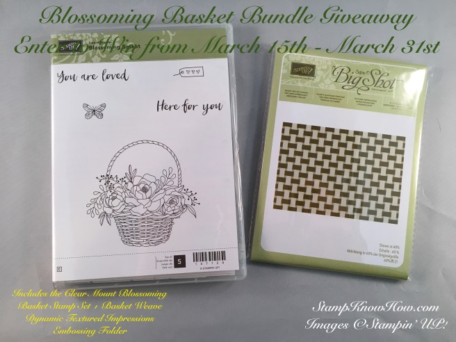 Blossoming Basket Bundle Giveaway by Stampknowhow.com