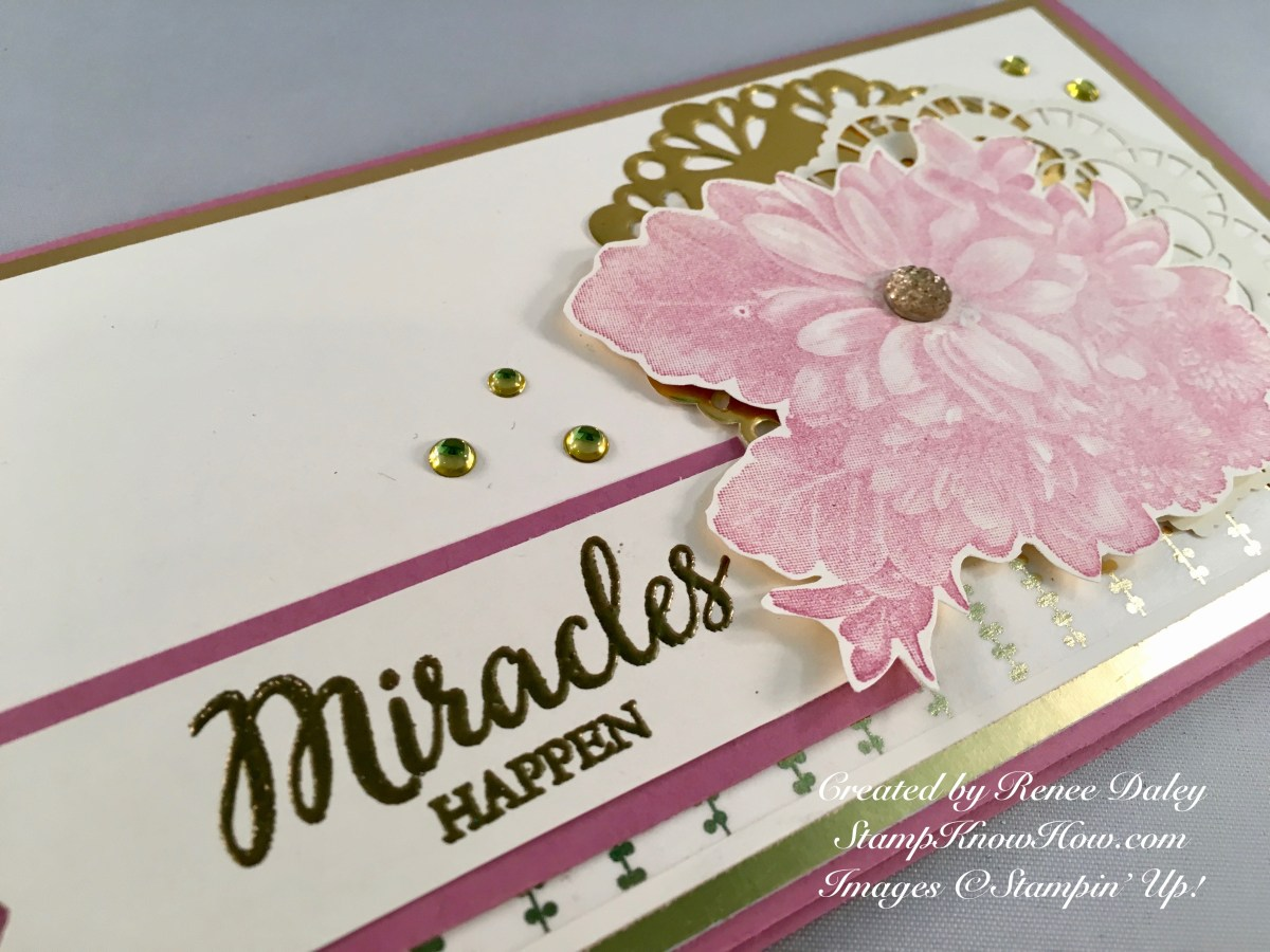 Close up Image of Heartfelt Bloom Stamped Card