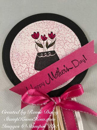 Front view of Mother's Day Flair Pick
