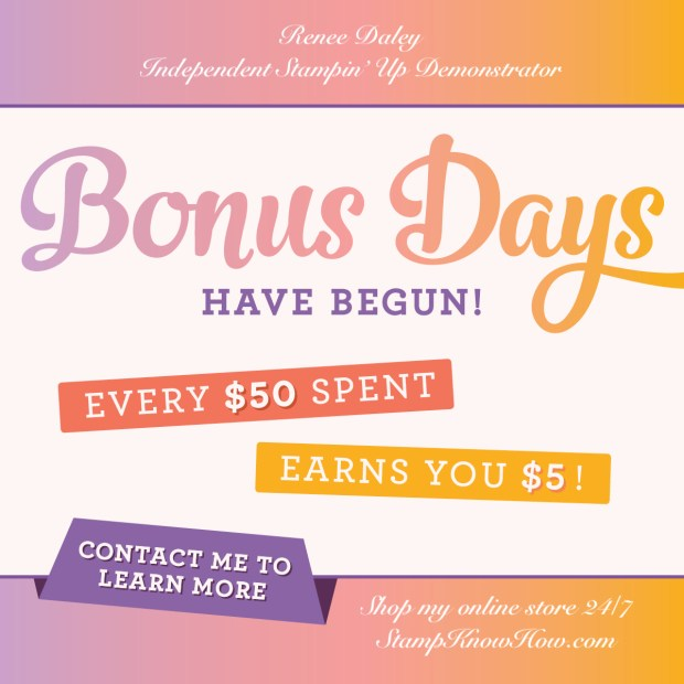 Bonus Days advertisement