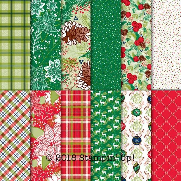 Under the Mistletoe Designer Series Paper by Stampin' Up!