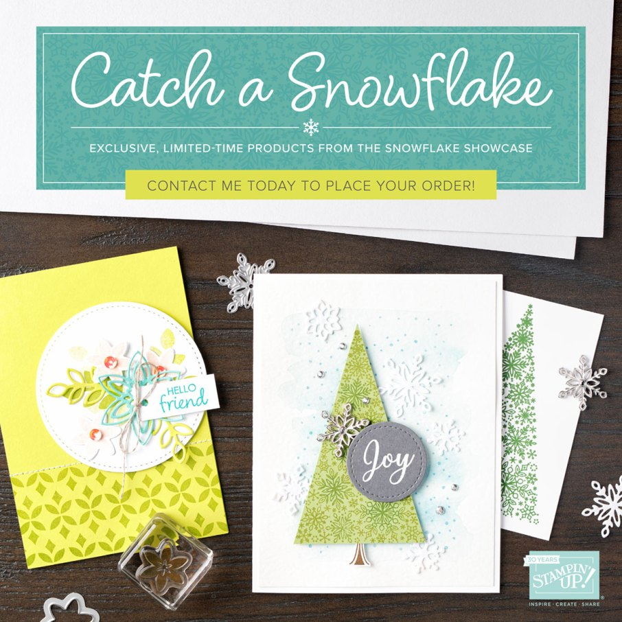 Snowflake Showcase Limited Time Products from Stampin' Up!