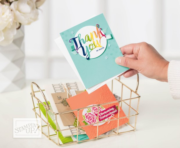 Thank you card by Stampin' Up!