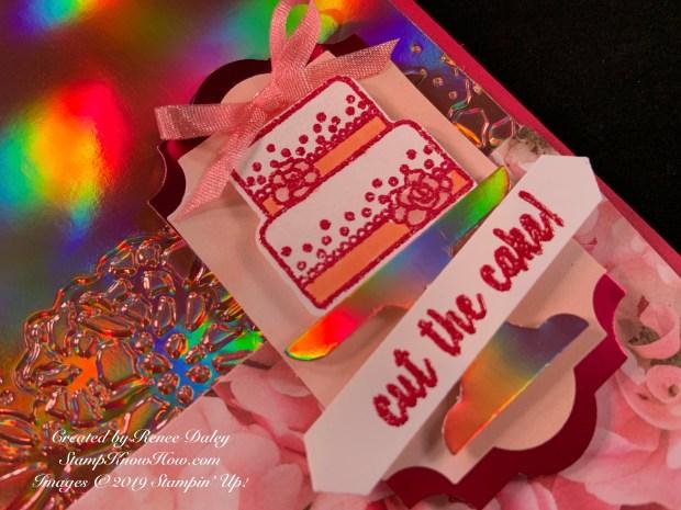 Piece of Cake Birthday Card Closeup