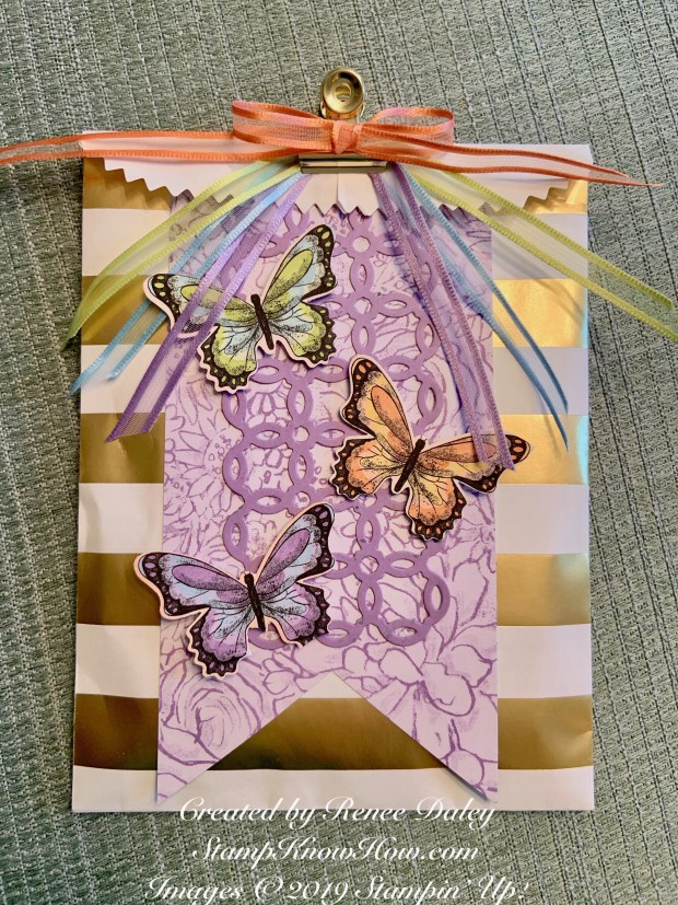 Butterfly Goodie bag uses Stampin' Up products