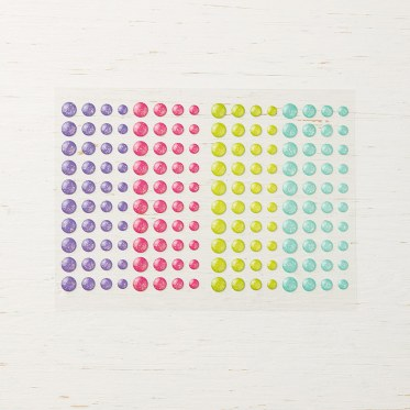 Glitter Enamel Dots by Stampin' Up