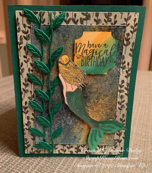 Magical Mermaid Birthday Card