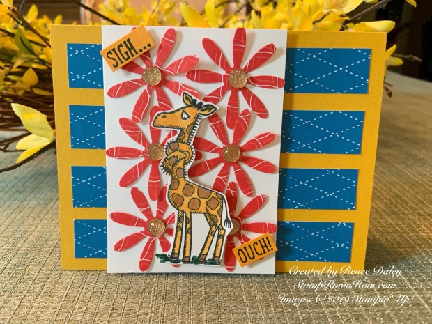 Back on Your Feet Giraffe Get Well Card